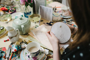Afternoon Tea And Embroidered Pantie Making Group Party - hen party gifts & styling
