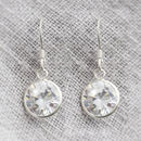 Macey Sterling Silver Crystal Drop Earrings