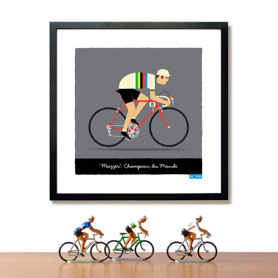 World Road Race Champion Personalised Cycling Print