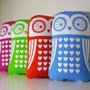Screen Printed Owl Cushion - cushions