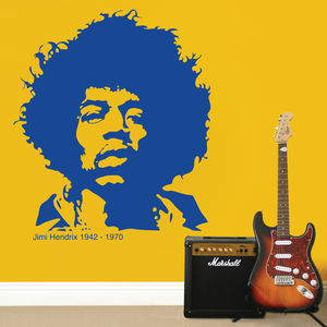 Jimi Hendrix Wall Sticker - wall stickers
