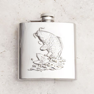 Fish Hip Flask Stainless Steel - 60th birthday gifts