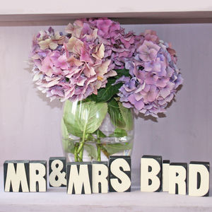 Personalised Mr And Mrs Blocks - styling your day