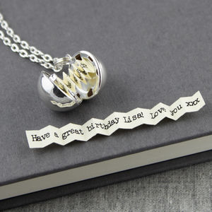 Secret Note Ball Locket Necklace - our top necklaces for her
