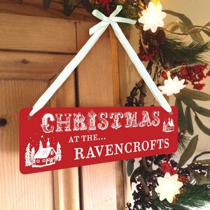 Personalised Christmas Hanging Sign - children's room accessories