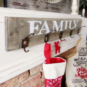 Personalised Family Photo Wood Coat Hook Rail - hooks, pegs & clips