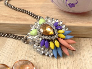 Pineapple Rainbow Necklace