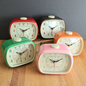 Retro Bakelite Style Alarm Clock - decorative accessories