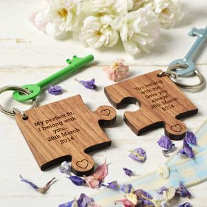Personalised Two Piece Puzzle Keyring