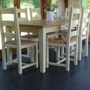Shaker Farmhouse Table And Chairs Hand Painted
