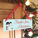 Personalised Children's Christmas Sign