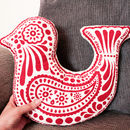 Bird Shaped Cushion