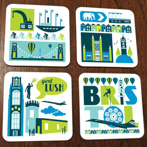 Bristol City Coaster Set