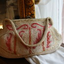 Vintage 1930s Hand Crocheted Evening Bag