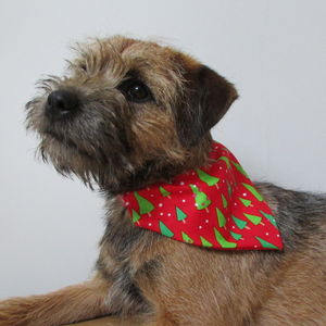 Christmas Tree Dog Bandana Neckerchief
