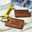 Quote Me Wood Keyring