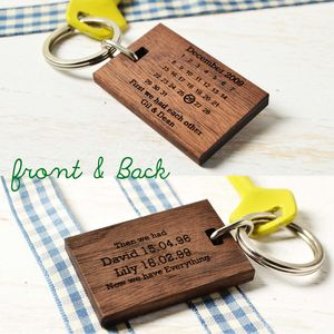Personalised Our Family Wooden Keyring - gifts for new dads