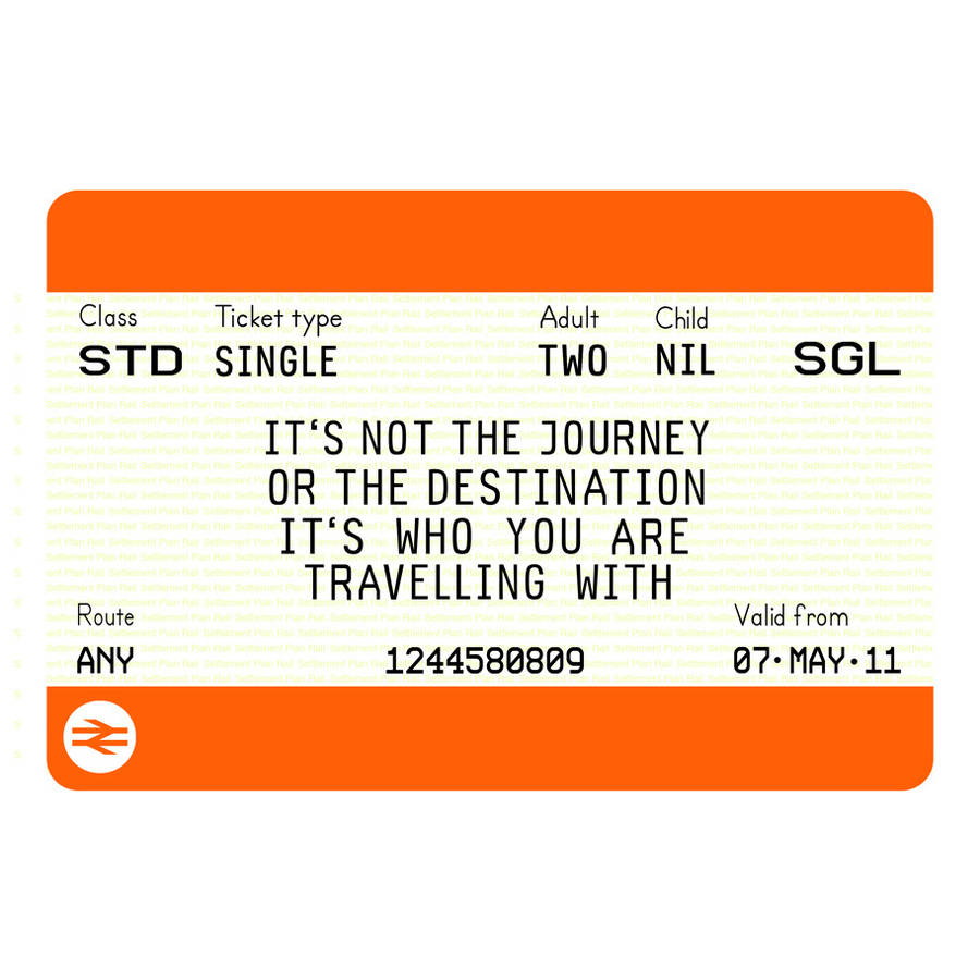 original_personalised train ticket print