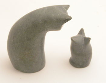 Stone Cat And Mouse
