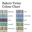 bakers twine colour chart