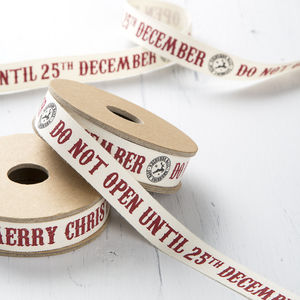 Do Not Open Christmas Ribbon