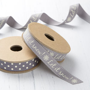 Let It Snow Christmas Ribbon