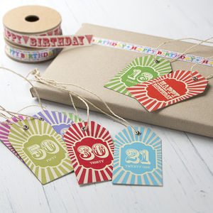Special Birthday Gift Tag - ribbon & wrap