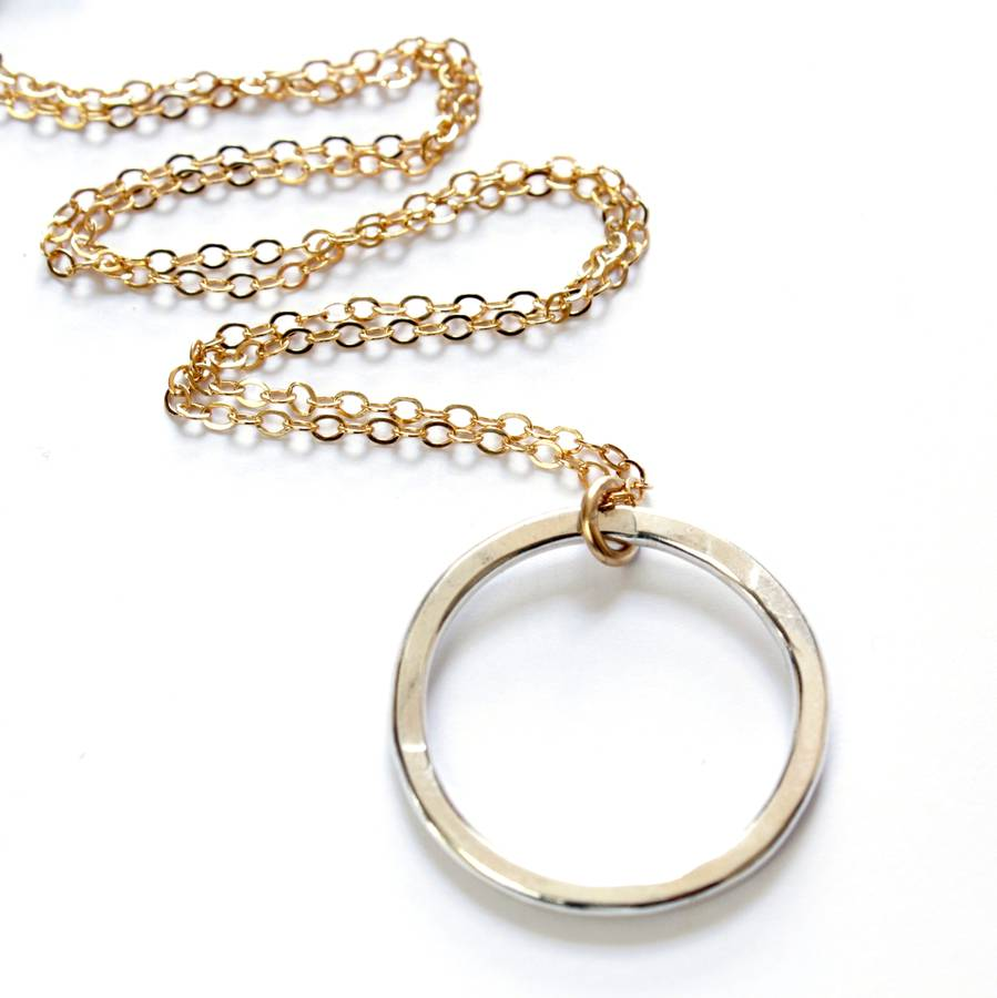 silver double etched hoop collection small emerge s from pendant necklace sl new porter products diana c