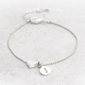 Tertia Silver Plated Heart Personalised Bracelet - view all sale items