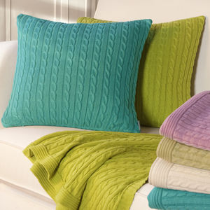 Cable Knit Cushion Cover - living room