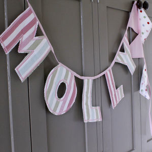 Personalised Letter Bunting - children's room