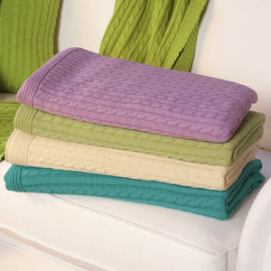 Cable Knit Throw - blankets & throws