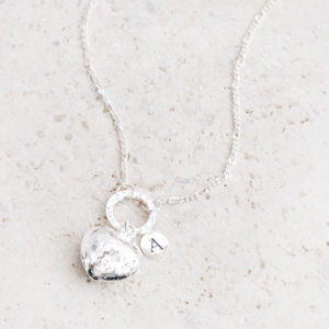 Portia Silver Heart Personalised Necklace