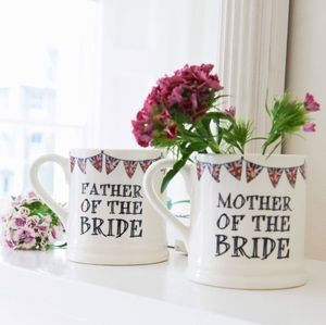 Set Of 12 Wedding Party Mugs