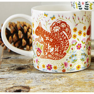 Woodland Squirrel Straight Sided Mug