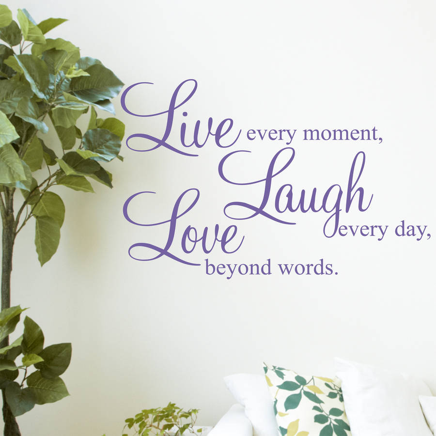 Live Laugh Love Quotes Live Laugh Love' Wall Stickers Quotesparkins Interiors