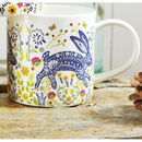 Woodland Hare Straight Sided Mug