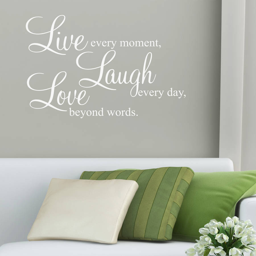 Love Wall Quotes Custom Live Laugh Love' Wall Stickers Quotesparkins Interiors