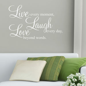 'Live Laugh Love' Wall Stickers Quotes - sale by room