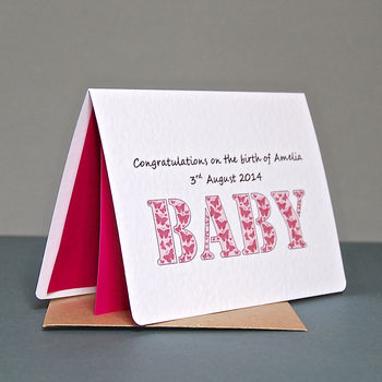 Personalised Baby Butterfly Card