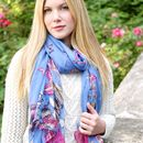 Blue Butterfly Scarf