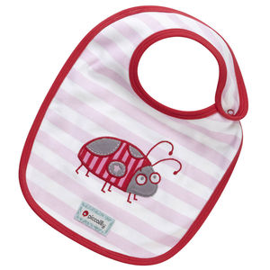 Lady Bug Applique Reversible Bib