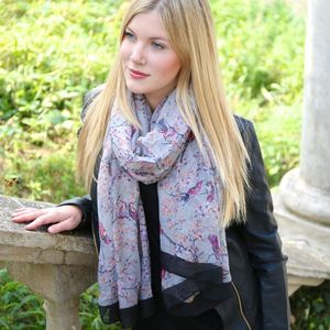 Bird And Blossom Scarf - hats, scarves & gloves