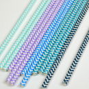 Chevron Paper Straws Mixed Colour Pack