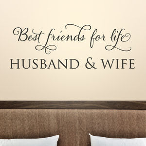 'Best Friends For Life' Quote Wall Sticker