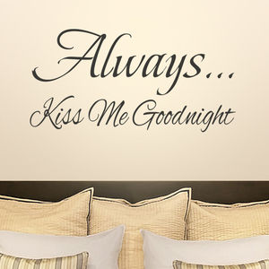 Always Kiss Me Goodnight Wall Sticker - kitchen