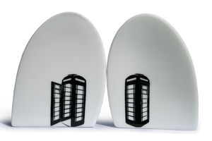 Egg Shape Porcelain Salt And Pepper Set - dining room