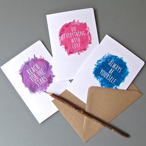 Pack Of Eight Motivational Affirmation Notelets