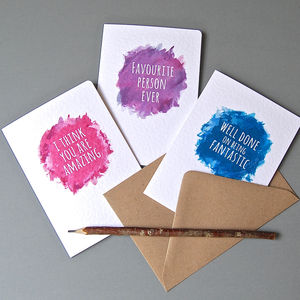 Pack Of Eight Cheery Notelets - shop by category