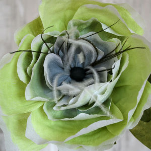 Large Green Paper Peony - artificial flowers